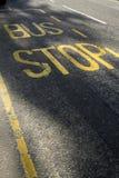 Bus Stop. SIgn on London street royalty free stock photos