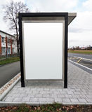Bus stop advertising billboard Royalty Free Stock Photo