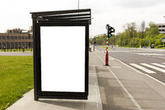 Bus stop advertising space Royalty Free Stock Image