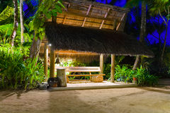 Bus Stop At Tropical Island Stock Photography