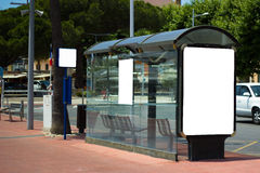 Bus-stop. In bandol harbor Stock Photo