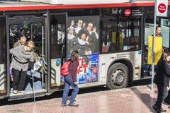 Bus stop in Barcelona Stock Photos