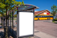 Bus stop Bastad 01 Stock Photos