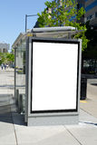 Bus stop billboard royalty free stock photo