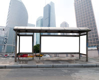Bus stop billboard Royalty Free Stock Image