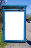 Bus stop with blank bilboard Stock Images