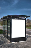 Bus stop with blank bilboard HDR 06 Royalty Free Stock Photos