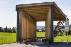 Bus Stop Bregenzerwald Amateur Architecture Studio China. Krumbach, Austria - July 22, 2017: Busstop by architect Bus Stop Bregenzerwald, Amateur Architecture stock photos