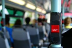 Bus Stop Button Stock Image