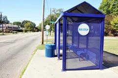 Bus Stop on City Street Royalty Free Stock Photo
