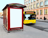The bus-stop on the city street Royalty Free Stock Image