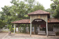 Bus stop on countryside in brazil Stock Photography