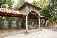 Bus stop on countryside in brazil Stock Photo