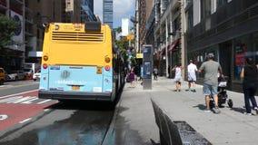 New York City Bus Stop stock video
