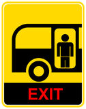 Bus stop, exit - sign Royalty Free Stock Photography
