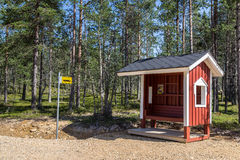 Bus stop in Finland Europe royalty free stock photography