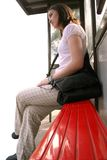 Bus stop girl - sally Stock Photos