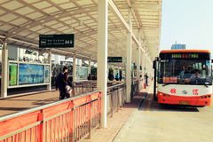 City bus stop, bus station in China Stock Photography