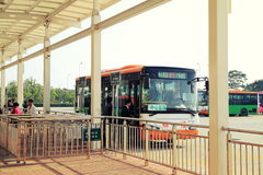 City bus stop, bus station in China Royalty Free Stock Images