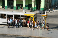 bus stop Havana,Cuba Royalty Free Stock Photos