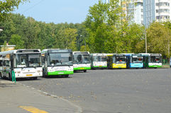 Bus Stop Heat Summer. Bus Stop Metro Station Youth Moscow Royalty Free Stock Photo