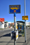 Bus stop in Iceland Royalty Free Stock Photo