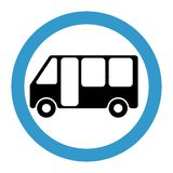 Bus stop icon, bus station vector illustration icon. royalty free illustration