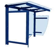 Bus stop isolated - blue Royalty Free Stock Images