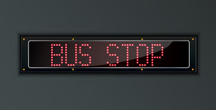 Bus Stop LED digital Sign Stock Photo