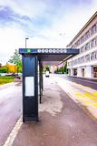 Bus stop in the Ljubljana, Slovenia capital stock photos