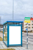 Bus Stop Main Road Stock Photography