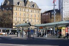 Bus stop Mainz Stock Photos