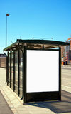 Bus stop Malmo 02. An image of a bus stop with a blank bilboard for your advertising situated in the swedish city of Malmo Stock Photo