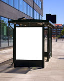 Bus stop Malmo 03. An image of a bus stop with a blank bilboard for your advertising situated in the swedish city of Malmo Royalty Free Stock Images