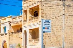 Bus Stop in Marsaxlokk Malta. Bus Stop in Marsaxlokk, Malta Royalty Free Stock Photography