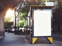 Bus stop mockup Royalty Free Stock Image