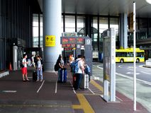 Bus stop at Narita airport. Stock Image