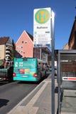 Bus stop, Nuremberg royalty free stock photography
