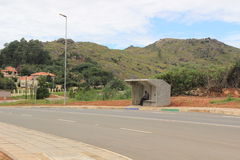 Bus stop outside of Mbabane, Swaziland, southern Africa, african city Royalty Free Stock Photo