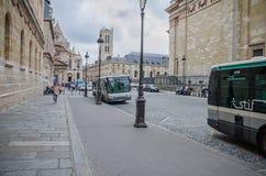 Bus stop Pantheon in Paris Stock Image