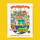 Bus Stop Public Transportation stock illustration
