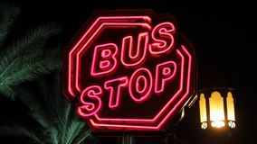 Bus stop stock video