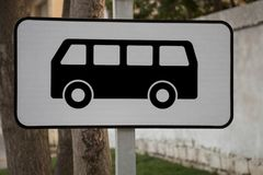 Bus stop road sign Royalty Free Stock Photo
