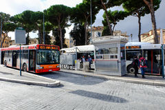 Bus stop in Rome Royalty Free Stock Photography