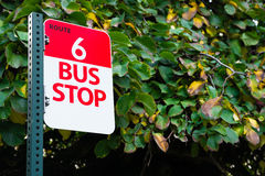 Bus Stop Route 6 Public Transit Transportation Stock Image