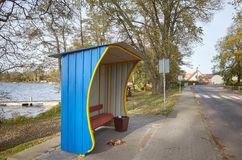 Free Bus Stop Shed In Stare Drawsko, Poland Stock Images - 164014154