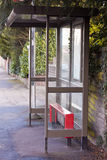 Bus stop shelter Royalty Free Stock Image
