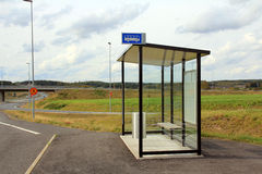 Bus Stop Shelter by Motorway Stock Images