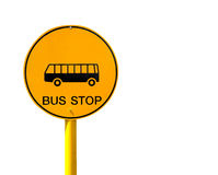 Bus stop sign Royalty Free Stock Image