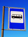 Bus stop sign Stock Photos